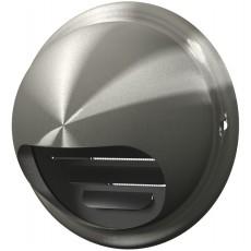 Выход стенной вентиляционный вытяжной металлический с фланцем D100, 10ВМ