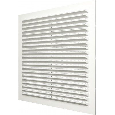 Решетка вентиляционная вытяжная 2323С АБС 234х234 белая